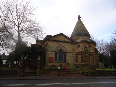 The old church and mausoleum.