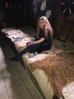 Christina in a Viking Longhouse